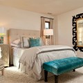Pops of turquoise enliven the fabulous and cozy bedroom 9 ways to add
