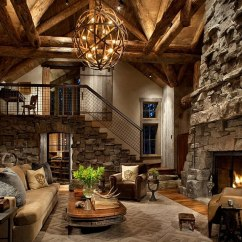 Rustic Cabin Living Room Decorating Ideas Furniture Set Up Small 30 For A Cozy Organic Home View In Gallery Antique Decor And Warm Lighting Gives The Beautiful Aura Design Peace