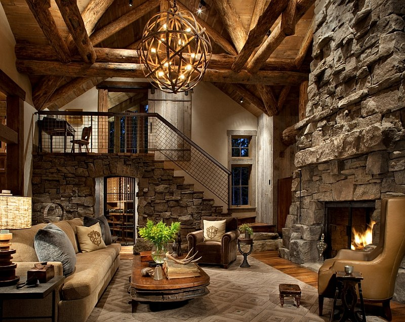 cabin style living room cool furniture sets 30 rustic ideas for a cozy organic home view in gallery antique decor and warm lighting gives the beautiful aura design peace