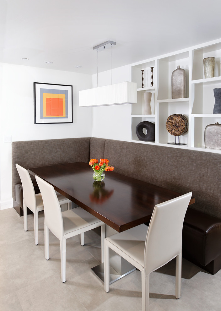 kitchen corner booth seating how to design a layout contemporary aspen condo gets chic makeover