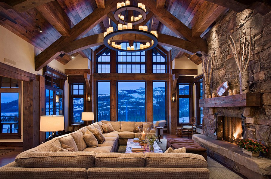 cabin style living room country rooms photos 30 rustic ideas for a cozy organic home chalet has an imposing presence design locati architects