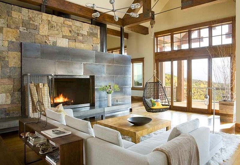 contemporary rustic living room decorating open plan kitchen floor plans 30 ideas for a cozy organic home creative way to use the modern style by studio 80 interior design