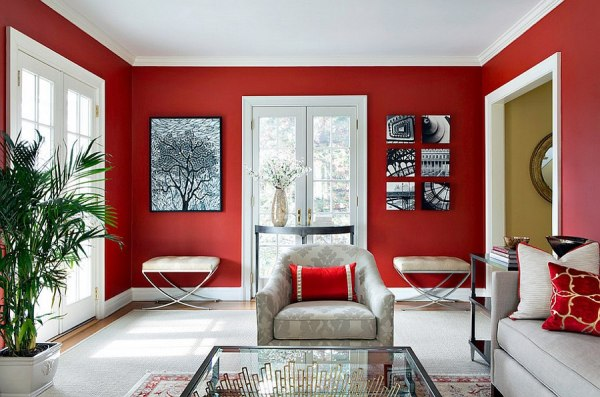 red living room Red Living Rooms Design Ideas, Decorations, Photos