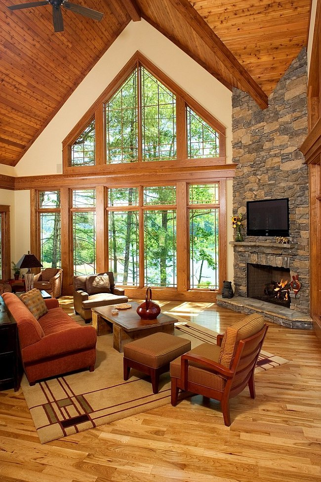 rustic cabin living room decorating ideas decorate small country style 30 for a cozy organic home framed views add to the natural vibe of design id studio