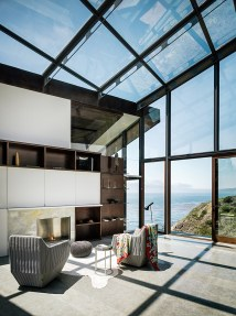 Glass Houses Overlooking Ocean