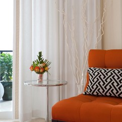 Orange Living Room Chair Small With Dining Table And Black Interiors Rooms Bedrooms Kitchens Infuse Some Zest Into Your Bedroom An Accent Design Nxg