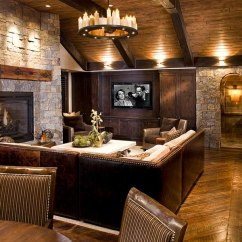 Rustic Living Rooms Spotlight For Room 30 Ideas A Cozy Organic Home View In Gallery Natural Stone And Reclaimed Timber Shape The Design John Kraemer