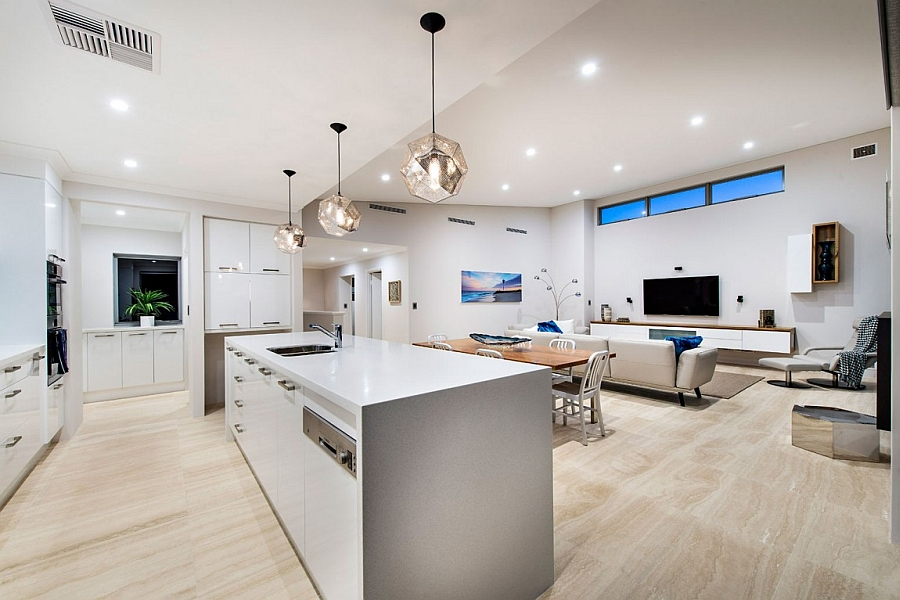 kitchen island ideas wallpaper backsplash contemporary perth residence with scenic ocean views