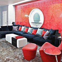 Black And Red Living Room Large Mirror Rooms Design Ideas Decorations Photos Posh In Fisher Id