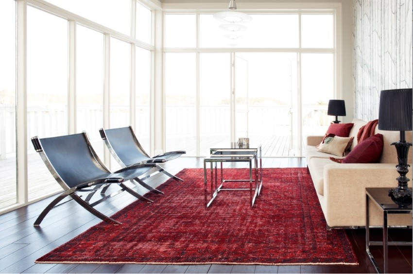 modern living room with persian rug accessories for overdyed and rugs home designs view in gallery red a