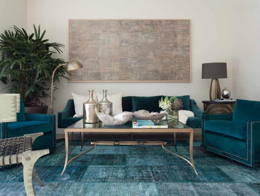 teal living room rug condo with fireplace design ideas overdyed and persian rugs home designs view in gallery blue an eclectic