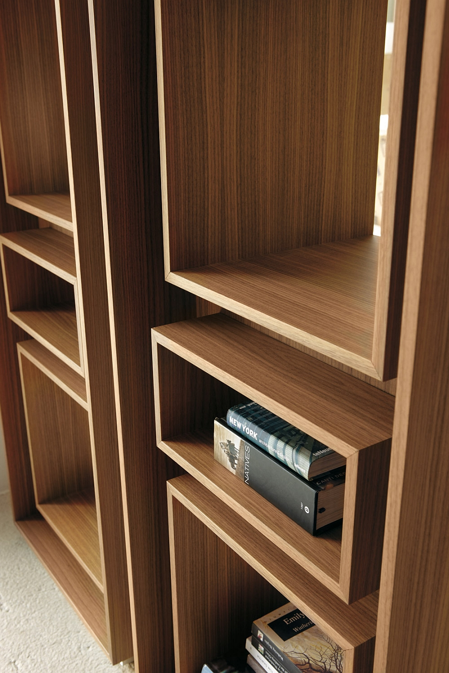 living rooms for small spaces room display cabinet 5 trendy modern bookshelves that unleash warmth of wood!