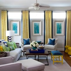 Living Room Blue Decorating Ideas Funky Chairs Yellow And Interiors Rooms Bedrooms Kitchens Add A Dash Of Green Along With Design Jennifer Reynolds