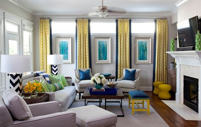 Image Of Grey And Yellow Living Room Ideas