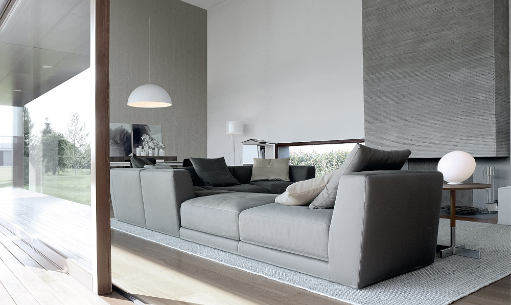 contemporary sofa designs for living room leather and chair covers 5 comfy sofas offer versatile seating solutions view in gallery combine low high armrest units to create a stunning sectional smart modern couch