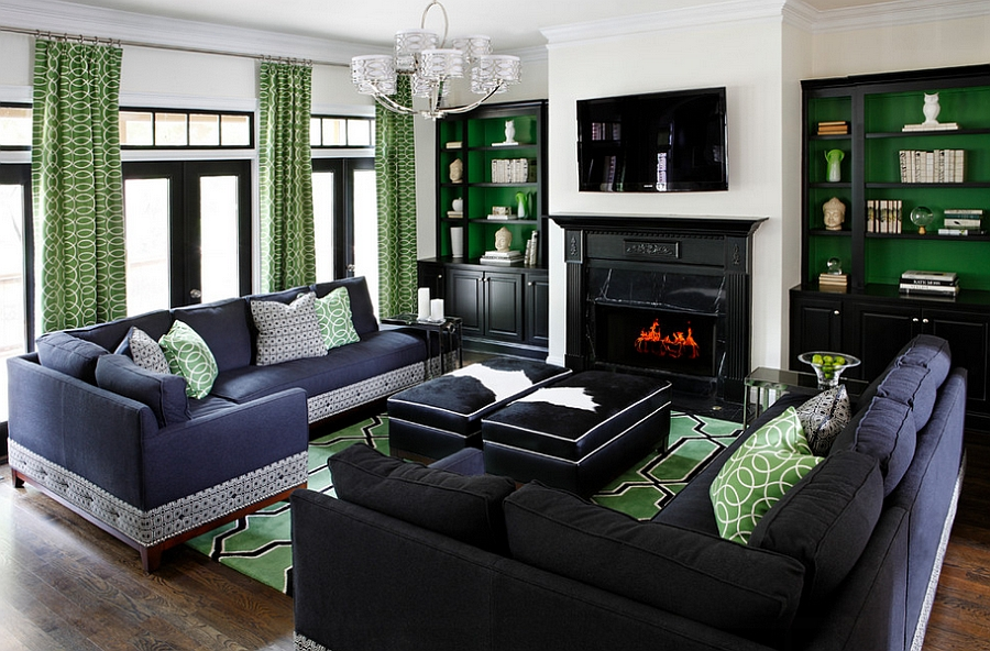 green living room walls corner chairs 25 rooms and ideas to match custom color used enliven the contemporary design kristin drohan collection