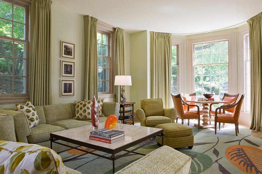 light green colors for living room round high side table 25 rooms and ideas to match drapes accentuate the color scheme of space design jones boer architects