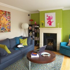 Green Living Room Walls Pillows 25 Rooms And Ideas To Match View In Gallery Eclectic With Wallpaper Design Think Contemporary