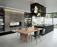 Sophisticated Contemporary Kitchens with Cutting