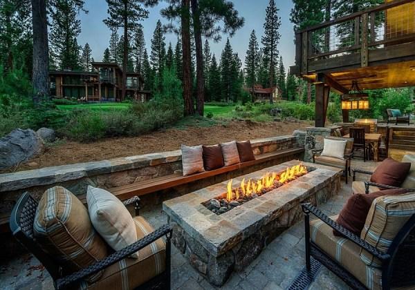 stunning cabin retreat brings rustic