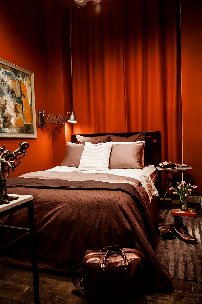 accent chair orange material 23 bedrooms that bring home the romance of red