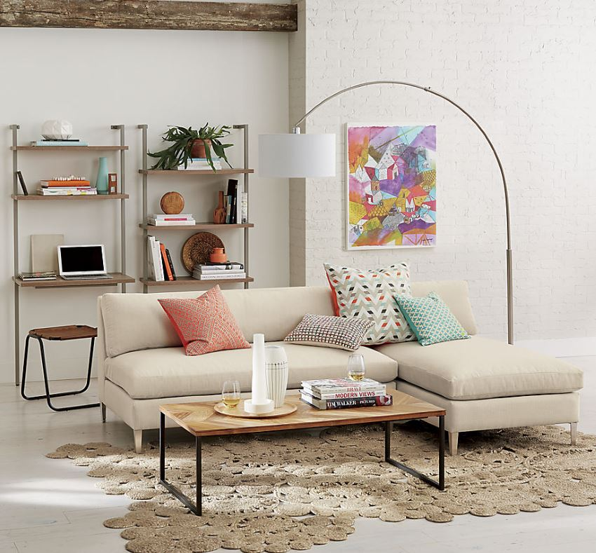 armless white leather sofa jcpenney reclining sofas 10 rooms featuring modern sectional