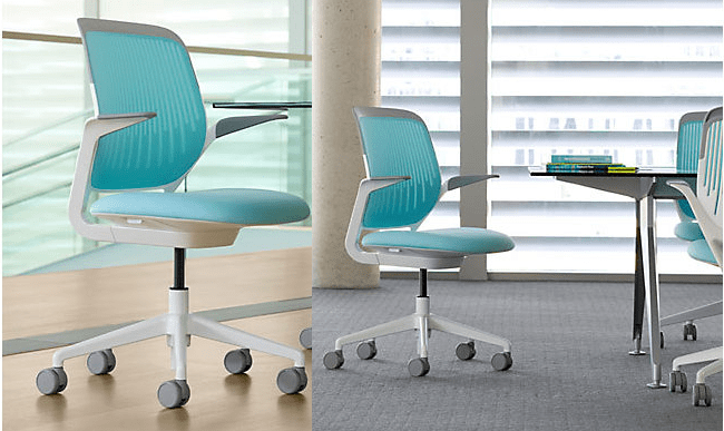 aqua desk chair la z boy with fridge 8 pieces of eco friendly furniture to green up your office space view in gallery cobi