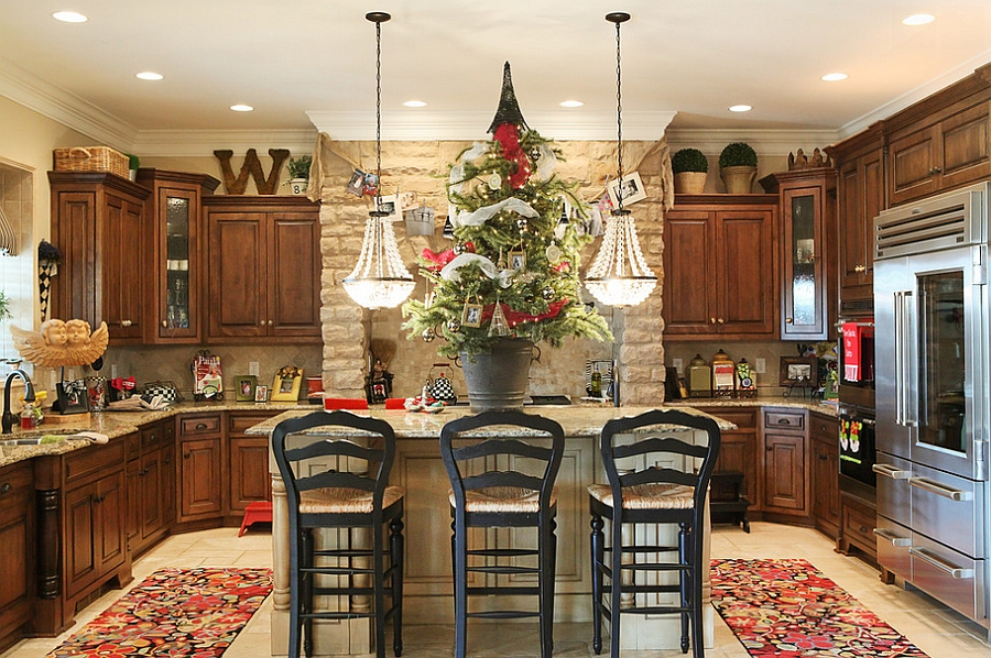 decor for kitchen bar stools amazon christmas decorating ideas that add festive charm to your view in gallery bring the tree into from julie ranee photography