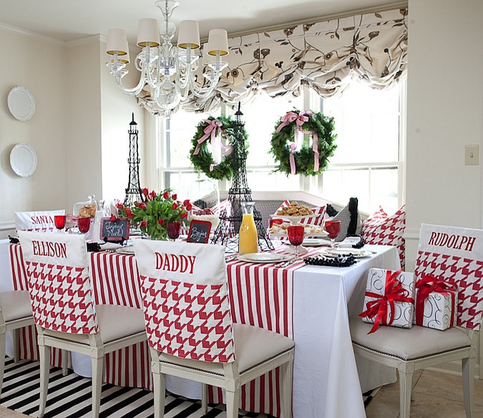 decoration kitchen tall tables christmas decorating ideas that add festive charm to your custom made chair covers for the and dining space design tobi fairley