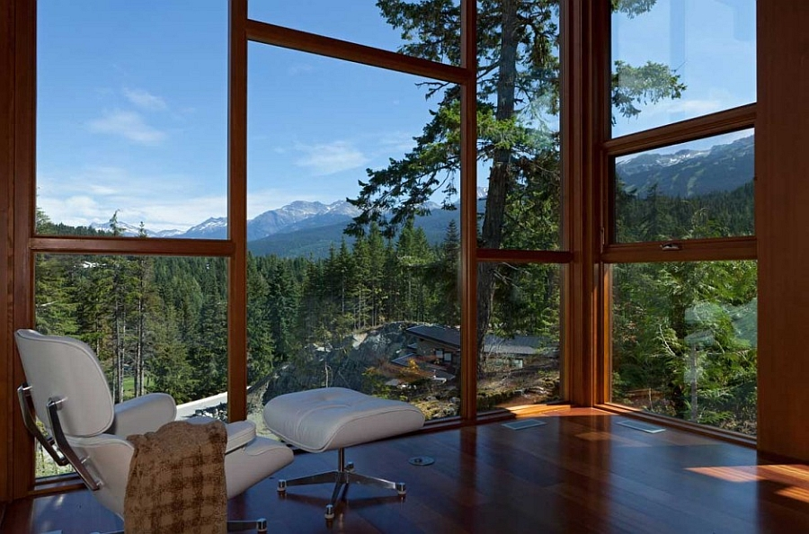 outdoor kitchen canada cool cabinets sweeping mountain & lake views: modern chalet architecture ...