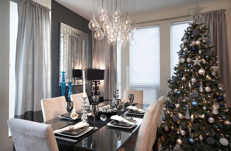 christmas decorating ideas for a small living room grey leather sectional 21 dining with festive flair elegant contemporary space sparkling tree design lux