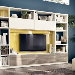 Storage Solutions For Living Rooms With Grey Leather Couches 12 Dynamic Room Compositions Versatile Wall Unit Systems