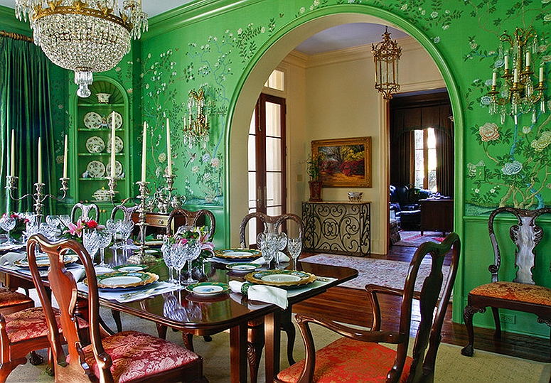 green dining room table and chairs wire nz how to use create a fabulous ornate asian style in from chad chenier photography