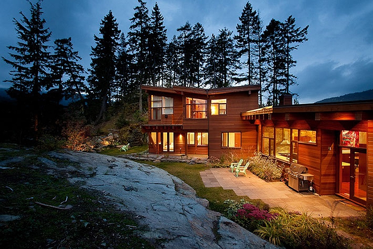 Sweeping Mountain Amp Lake Views Modern Chalet Architecture In Canada