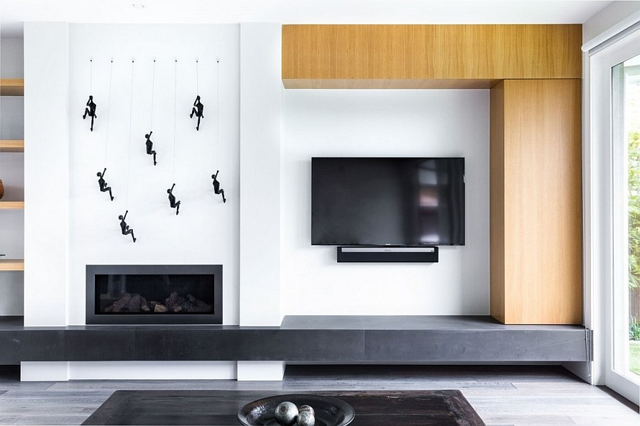 living room entertainment wall ideas accent designs cheerful modern home in melbourne with a posh, minimal vibe