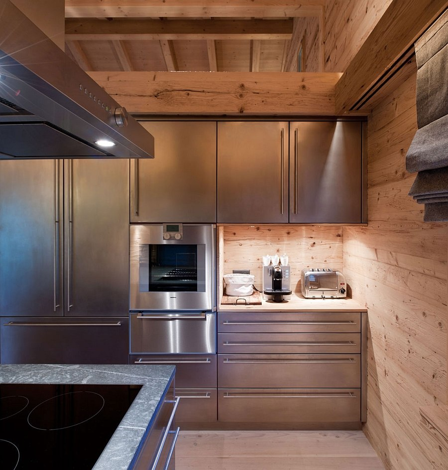 kitchen island lighting fixtures bronze pull down faucet chalet gstaad: luxurious holiday retreat nestled in the ...
