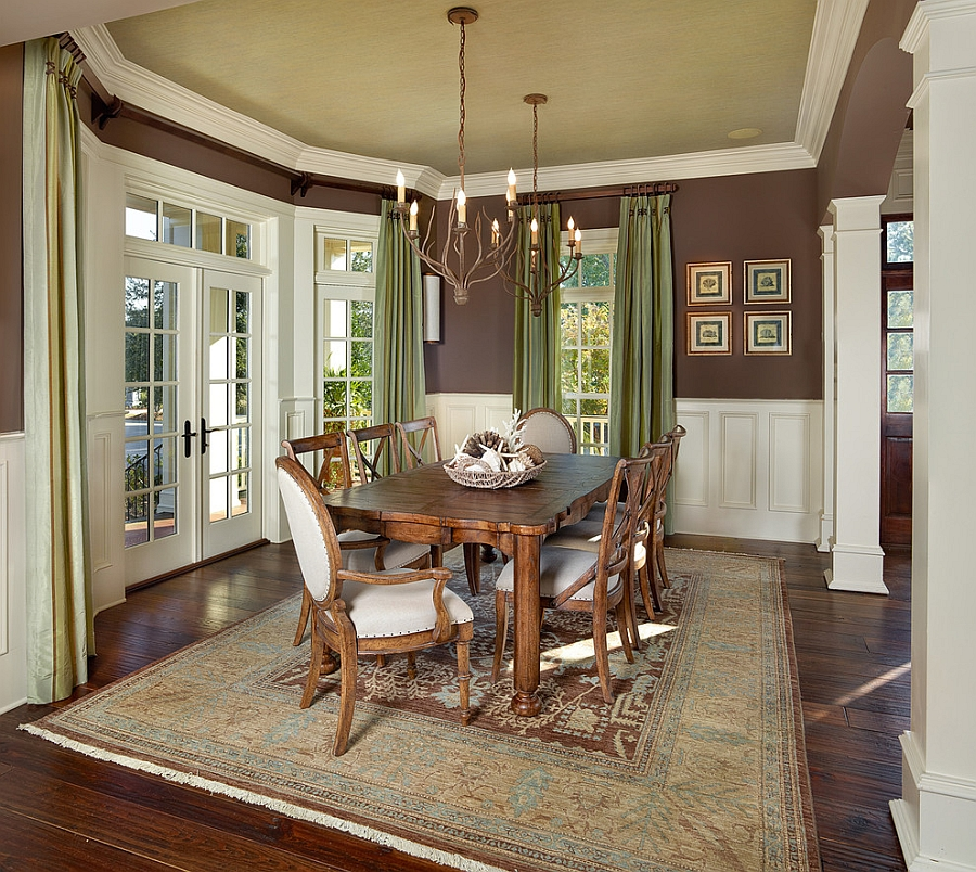 green dining room table and chairs koala kare high chair how to use create a fabulous traditional with ceiling drapes design lg vale
