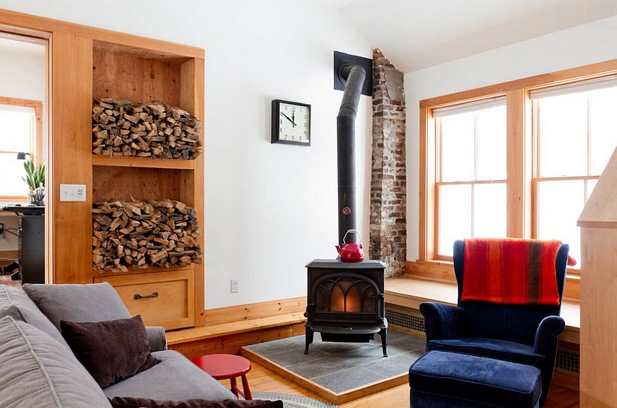 living room firewood holder how to decorate with fireplace in the corner artful woodpile 30 fabulous storage ideas eclectic a at its heart photography rikki snyder