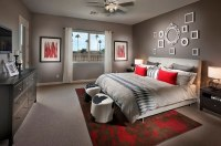 Polished Passion: 19 Dashing Bedrooms in Red and Gray!