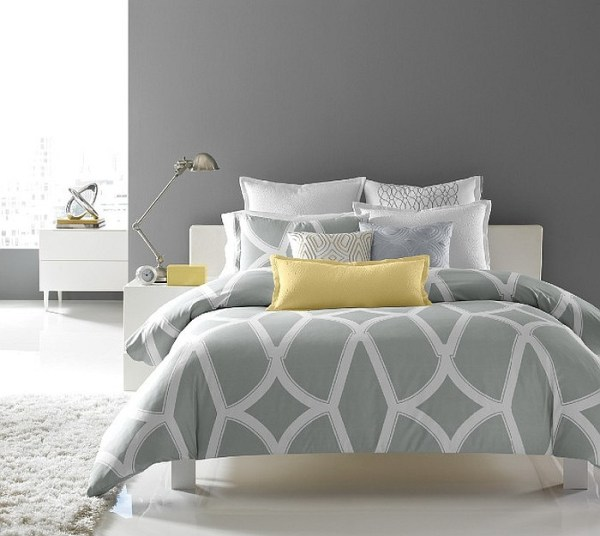 yellow and gray accent bedroom Cheerful Sophistication: 25 Elegant Gray and Yellow Bedrooms