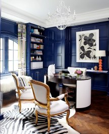 Blue Home Office Wall Decorating Ideas