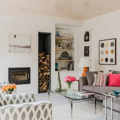 Living Room Firewood Holder Teal Gray With Brown Leather Couch The Artful Woodpile 30 Fabulous Storage Ideas View In Gallery Sleek Space Smart Design Terrat Elms Interior