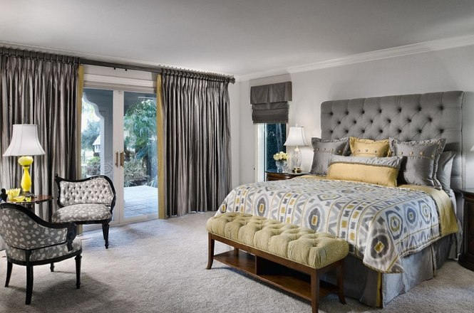 Nice Looking Yellow Bedroom Color Ideas 18 Chic And Grey Peaceful Gray Master