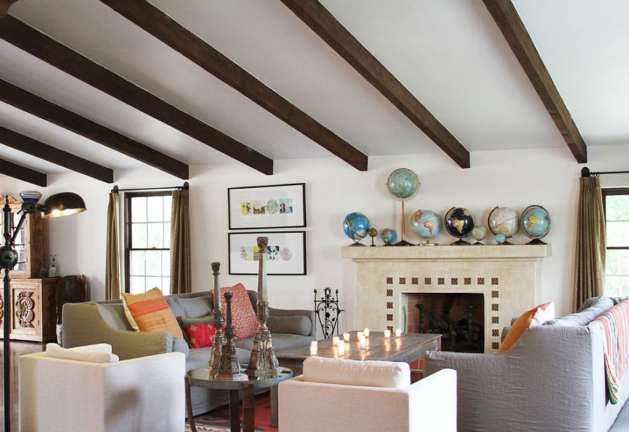 Bungalow Fireplace Mantel 12 Unique Ways To Decorate With Globes