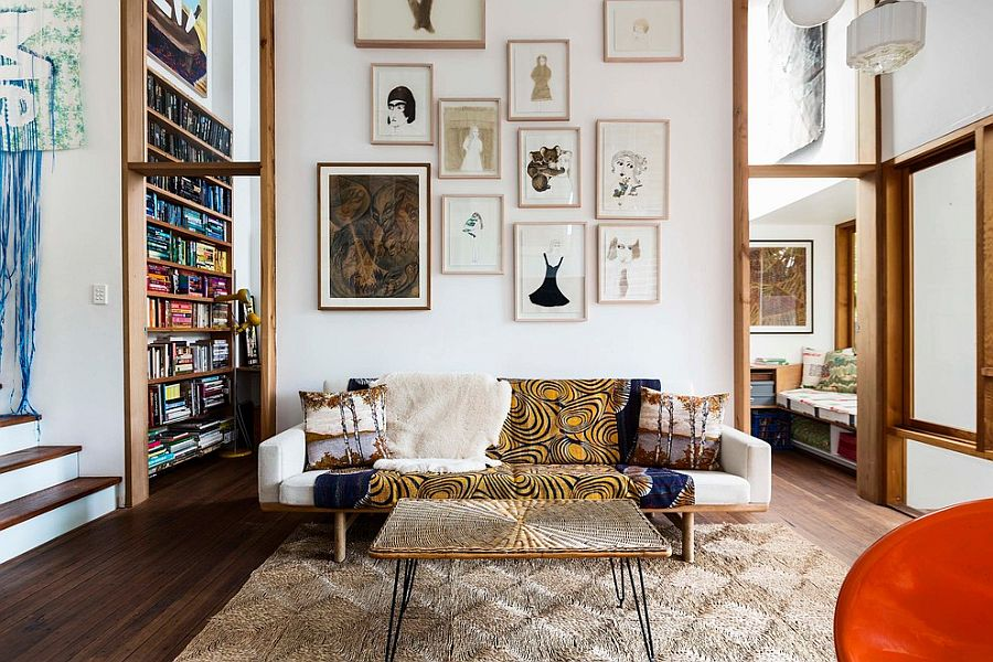 high ceiling living room decor ideas decorating with dark furniture sizing it down how to decorate a home ceilings view in gallery create the perfect accent wall curated artwork design david boyle architect