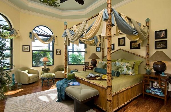 beautiful tropical bedroom design 15 Inspired Ways to Bring Home the Goodness of Bamboo