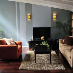 Paint Ideas For Living Room Feature Wall Hiding A Tv In The 15 Fabulous Rooms With Striped Accent Walls View Gallery Vertical Stripes Break Monotony Design Ayelet Designs