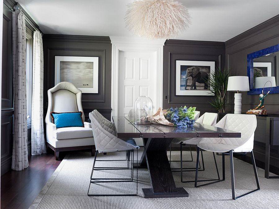 dark teal accent chair graco high coupon 25 elegant and exquisite gray dining room ideas