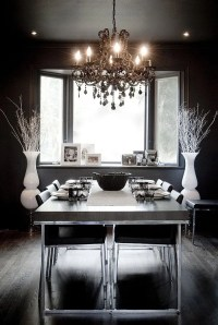 How to Use Black to Create a Stunning, Refined Dining Room