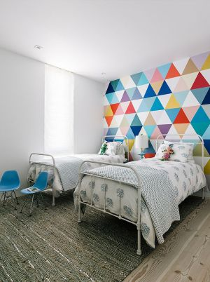bedroom cool pattern wall accent bedrooms creative adds fabulous yellow paint painting colors rooms fun colorful bed colourful painted diy